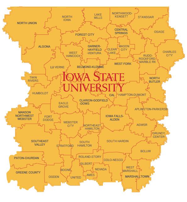 Iowa STEM Map - North Central Iowa STEM Region
