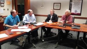 Iowa STEM Teacher Externships match-meeting at Lennox Industries