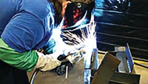 Jenna Nobel takes on welding as part of her Iowa STEM Teacher Externship expirence